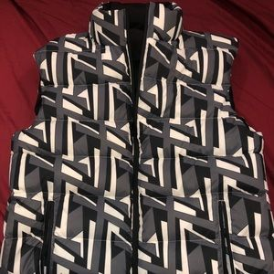 Fendi Mens Reversible Vest FF Printed Size 50/L